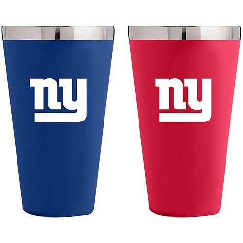 New York Giants Team Color 2-Pack Stainless Steel Pint Glass