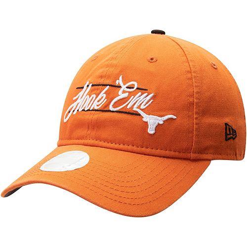 Women's New Era Texas Orange Texas Longhorns Slogan 9TWENTY Adjustable Hat