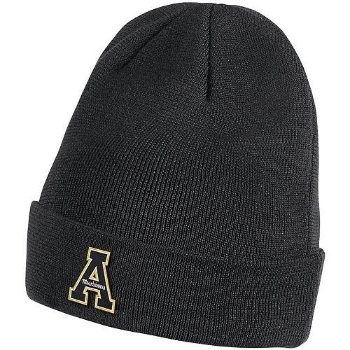 Men's Nike Black Appalachian State Mountaineers Team Logo Sideline Cuffed Knit Hat