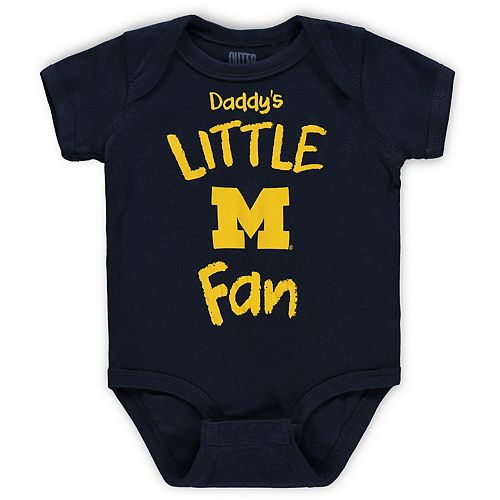 Infant Navy Michigan Wolverines Daddy's Little Fan Creeper