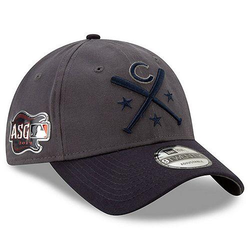 Men's New Era Graphite/Navy Chicago Cubs 2019 MLB All-Star Workout 9TWENTY Adjustable Hat