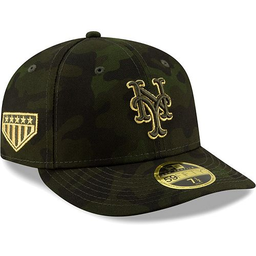 New York Mets New Era 2019 MLB Armed Forces Day On-Field Low Profile 59FIFTY Fitted Hat - Camo