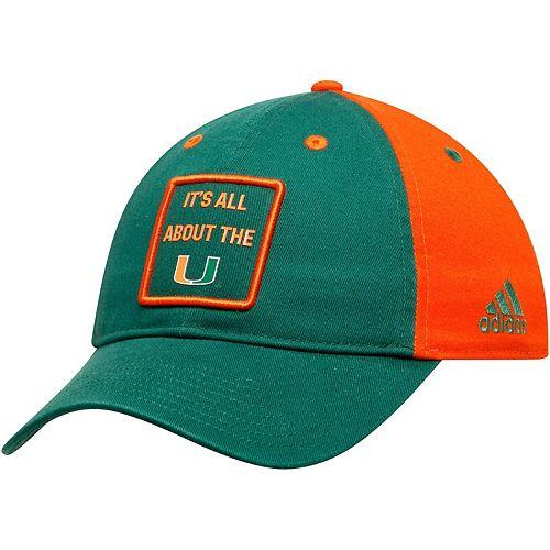 Men's adidas Green/Orange Miami Hurricanes Slouch Adjustable Hat