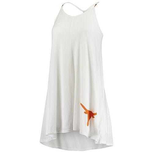 Women's White Texas Longhorns Harmony Spaghetti Strap Dress
