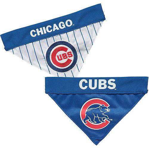 Chicago Cubs Reversible Bandana Pet Collar - Royal/White