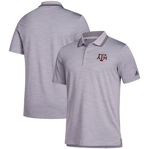 Texas A&M Aggies adidas Ultimate Striped Polo - Gray