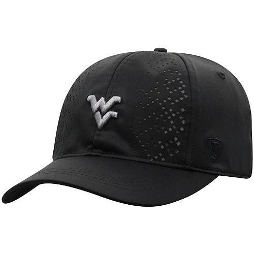 Women's Top of the World Black West Virginia Mountaineers Focal 1Fit Flex Hat