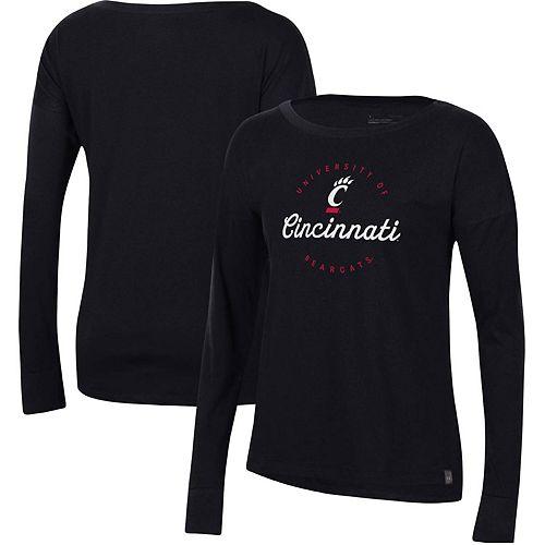 Women's Under Armour Black Cincinnati Bearcats Logo Performance Long Sleeve T-Shirt