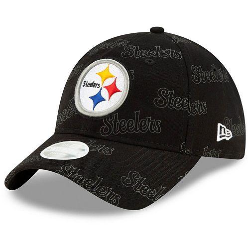 Women's New Era Black Pittsburgh Steelers Worded 9TWENTY Adjustable Hat