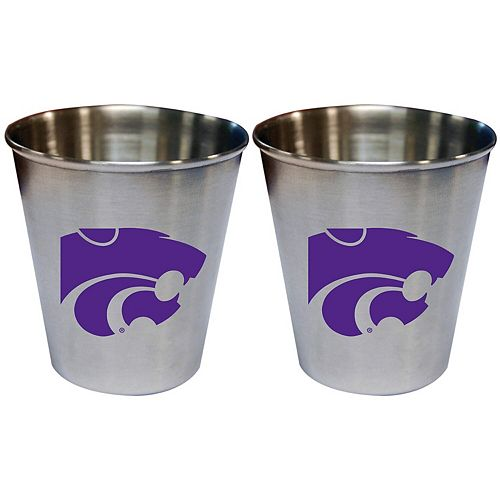 Kansas State Wildcats 2oz. Stainless Steel Collector Cups Two-Pack Set