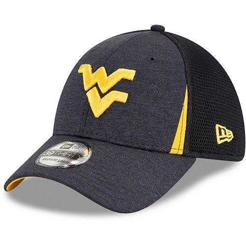 Men's New Era Navy West Virginia Mountaineers Slice Neo 39THIRTY Flex Hat