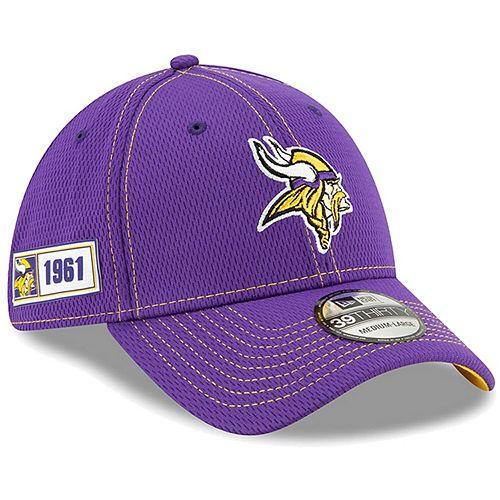 Youth New Era Purple Minnesota Vikings 2019 NFL Sideline Road 39THIRTY Flex Hat