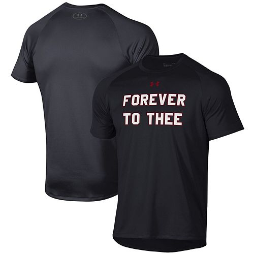 Men's Under Armour Black South Carolina Gamecocks Forever to Thee Slogan Tech Performance T-Shirt