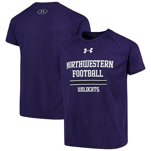 Youth Under Armour Purple Northwestern Wildcats Football Tech T-Shirt