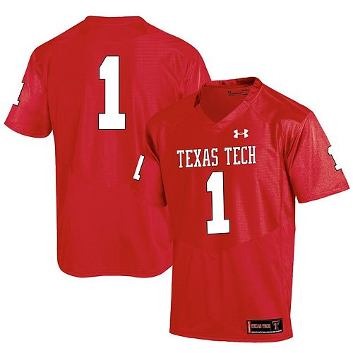 Men's Under Armour #1 Red Texas Tech Red Raiders Special Game Replica Jersey