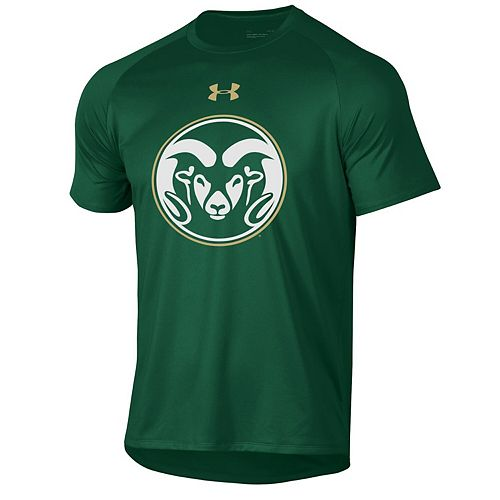 Men's Under Armour Green Colorado State Rams School Logo Tech 2.0 Performance T-Shirt