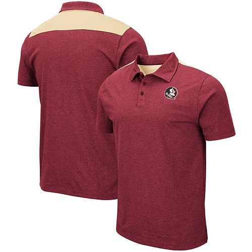 Men's Colosseum Heathered Garnet Florida State Seminoles I Will Not Polo