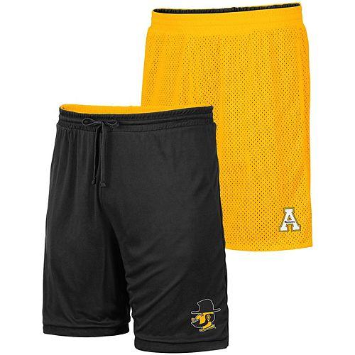 Men's Colosseum Gold/Black Appalachian State Mountaineers Wiggum Reversible Shorts