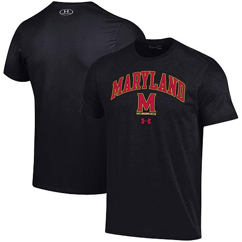 Men's Under Armour Black Maryland Terrapins Arched Performance T-Shirt