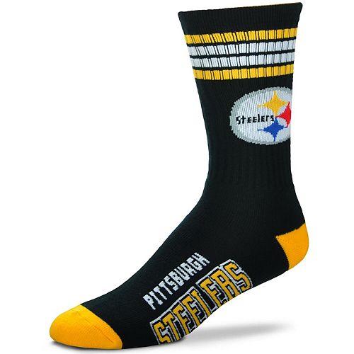 Women's For Bare Feet Pittsburgh Steelers Four Stripe Socks