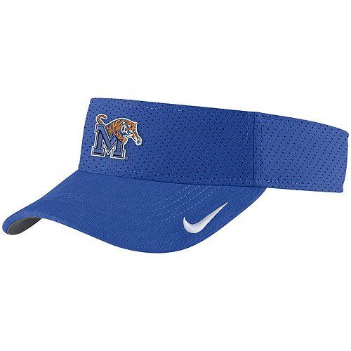 Men's Nike Royal Memphis Tigers Sideline Primary Logo Performance Visor