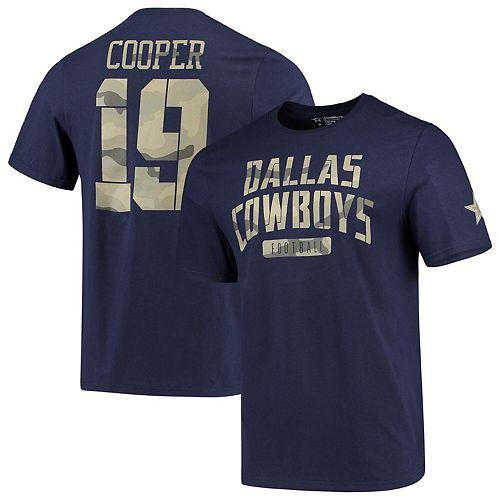 Men's Amari Cooper Navy Dallas Cowboys Camo Name & Number T-Shirt