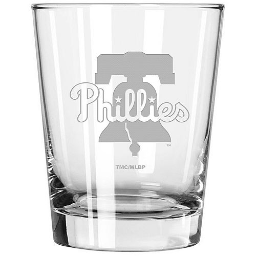 Philadelphia Phillies 15oz. Etched Double Old Fashioned Glass