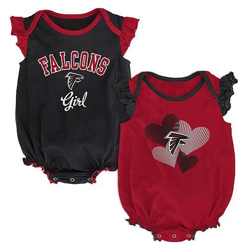 Girls Infant Red/Black Atlanta Falcons Homecoming Celebration 2-Piece Bodysuit Set