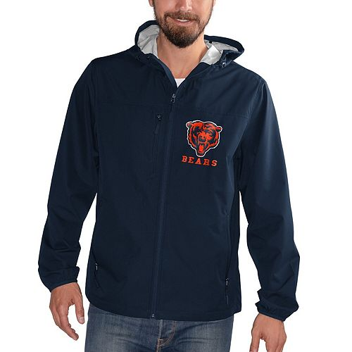 Men's G-III Sports by Carl Banks Navy Chicago Bears Double Play Full-Zip Jacket