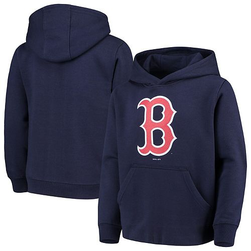 Youth Navy Boston Red Sox Primary Logo Pullover Hoodie