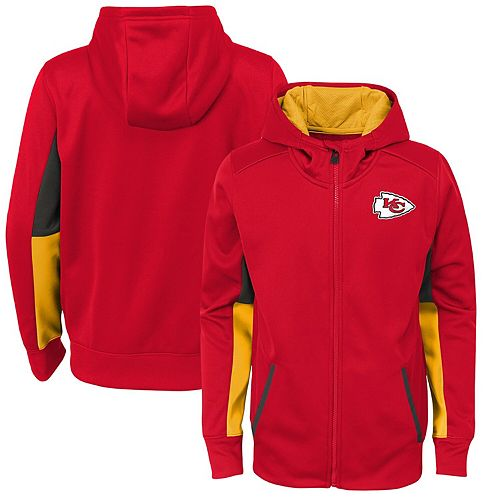 Youth Red Kansas City Chiefs Connected Performance Full-Zip Hoodie