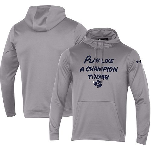 Men's Under Armour Gray Notre Dame Fighting Irish PLACT Performance Pullover Hoodie
