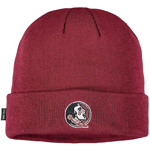 Youth Nike Garnet Florida State Seminoles Sideline Logo Cuffed Knit Hat