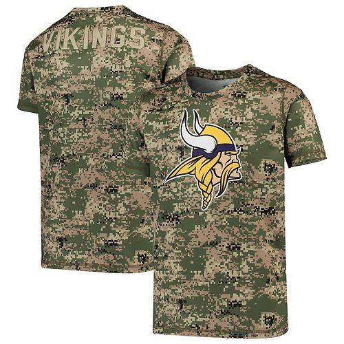 Youth Camo Minnesota Vikings Alpha Sublimated Dri-Tek T-Shirt