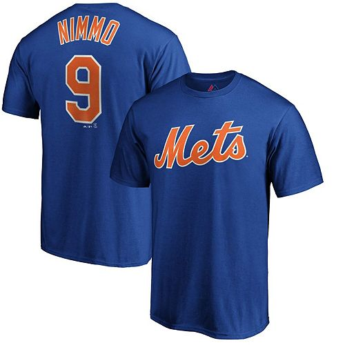 Men's Majestic Brandon Nimmo Royal New York Mets Official Player Name & Number T-Shirt