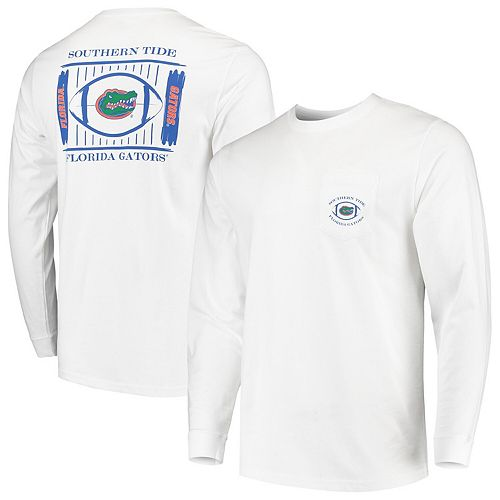 Men's Southern Tide White Florida Gators Stadium Long Sleeve T-Shirt