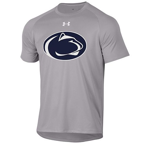 Men's Under Armour Heathered Gray Penn State Nittany Lions School Logo Tech 2.0 Performance T-Shirt