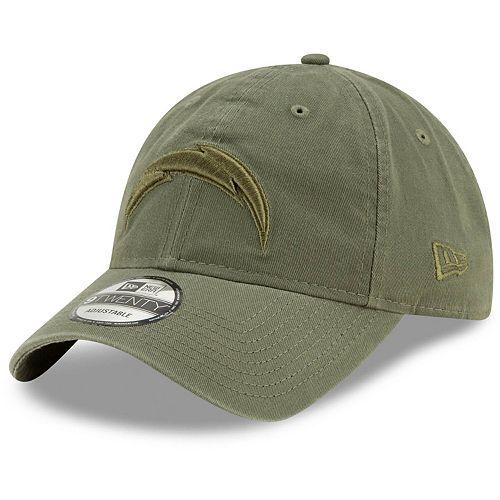 Men's New Era Olive Los Angeles Chargers Core Classic Tonal 9TWENTY Adjustable Hat