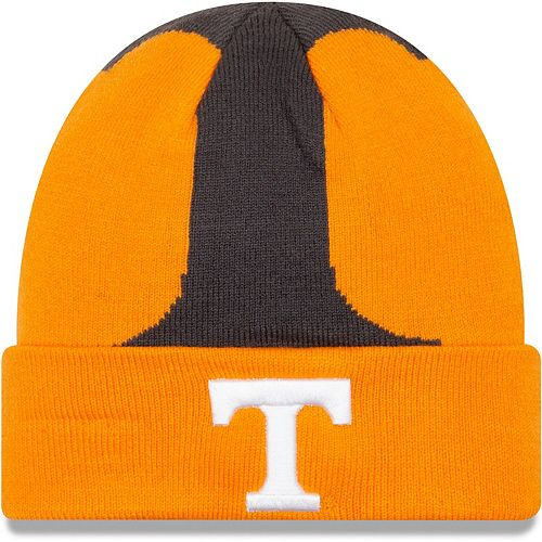 Men's New Era Tennessee Orange Tennessee Volunteers Logo Whiz Cuffed Knit Hat