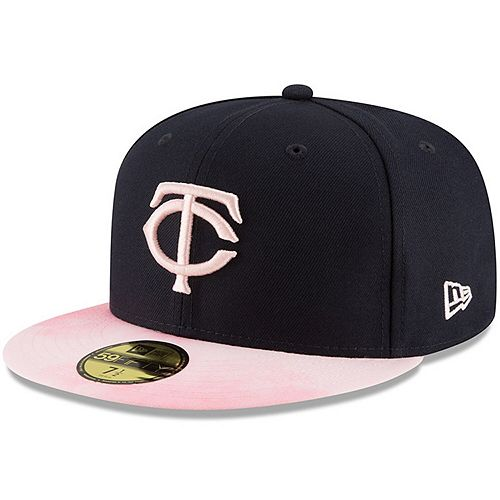 Minnesota Twins New Era 2019 Mother's Day On-Field 59FIFTY Fitted Hat - Navy/Pink