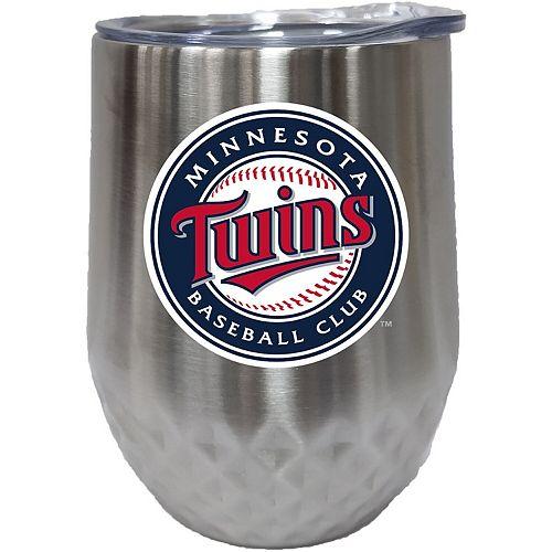 Minnesota Twins 12oz. Stainless Steel Stemless Diamond Tumbler