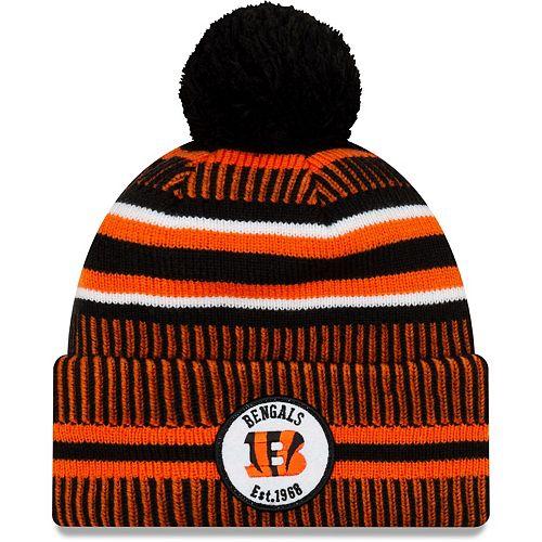 Youth New Era Orange/Black Cincinnati Bengals 2019 NFL Sideline Home Sport Knit Hat