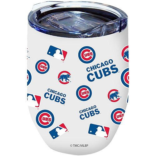 Chicago Cubs 16oz. Powder-Coated Full Wrap Stemless Tumbler Cup