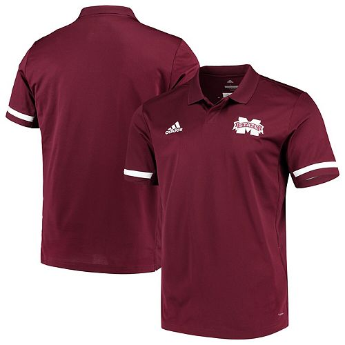 Mississippi State Bulldogs adidas Team climacool Polo - Maroon