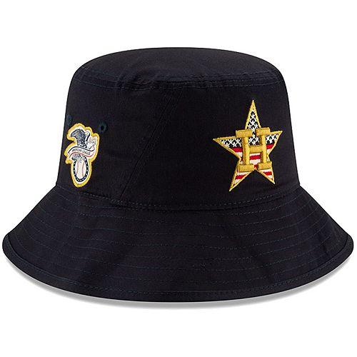 Men's New Era Navy Houston Astros 2019 Stars & Stripes 4th of July Bucket Hat