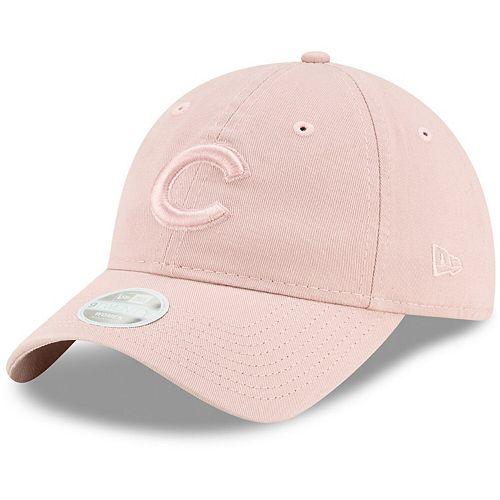 Women's New Era Pink Chicago Cubs Rouge Tonal Core Classic 9TWENTY Adjustable Hat