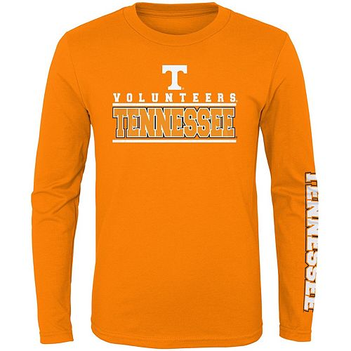 Youth Tennessee Orange Tennessee Volunteers Transition Two-Hit Long Sleeve T-Shirt