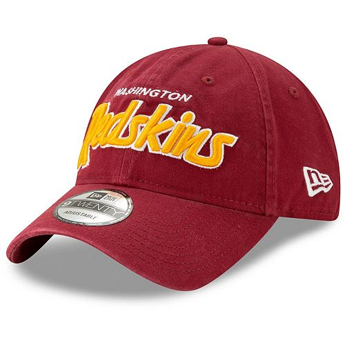 Men's New Era Burgundy Washington Redskins Retro Script II 9TWENTY Adjustable Snapback Hat