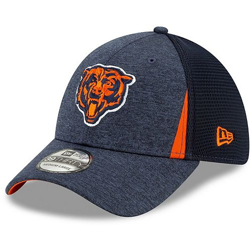 Men's New Era Navy Chicago Bears Alternate Logo Slice Neo 39THIRTY Flex Hat