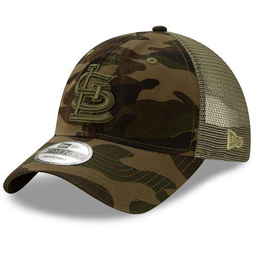 Men's New Era Camo St. Louis Cardinals Tonal Logo Trucker 9TWENTY Adjustable Snapback Hat